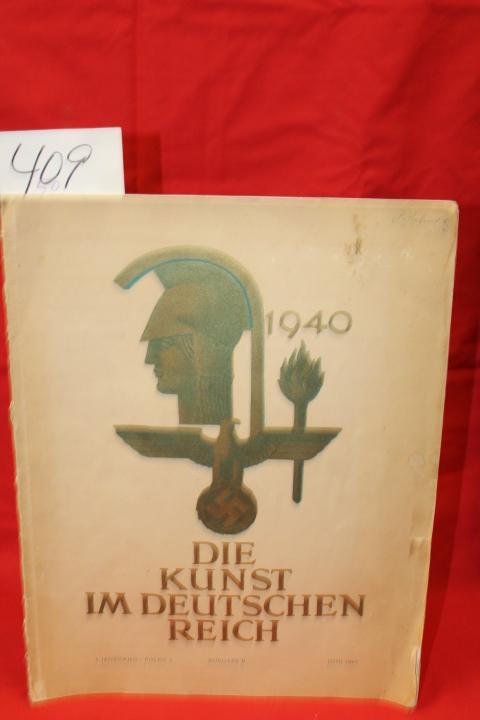 4.Jahrgand Folge6: Dier Kunst im Deutschen Reich Juni 1940