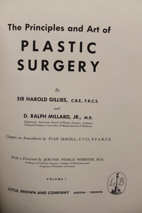 Gillies, Sir Harold & Millard, D. Ralph: The Principles and Art
