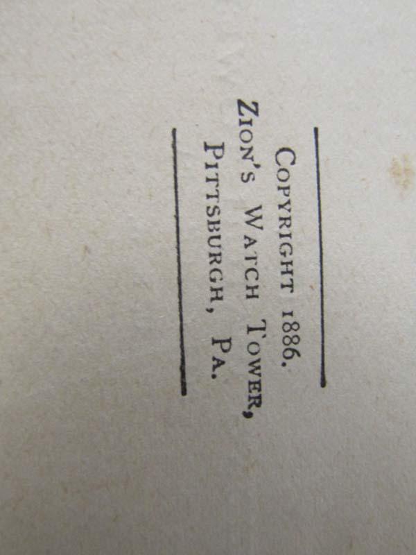 Russell, Charles T.  (Taze): Millennial Dawn Vol. 1 The Plan of