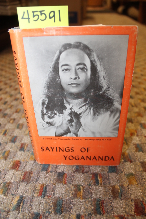 Yogananda, Paramahansa: Sayings of Yogananda dust jacket