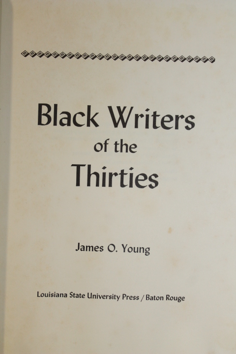 Young, James O.: Black Writers of the Thirties