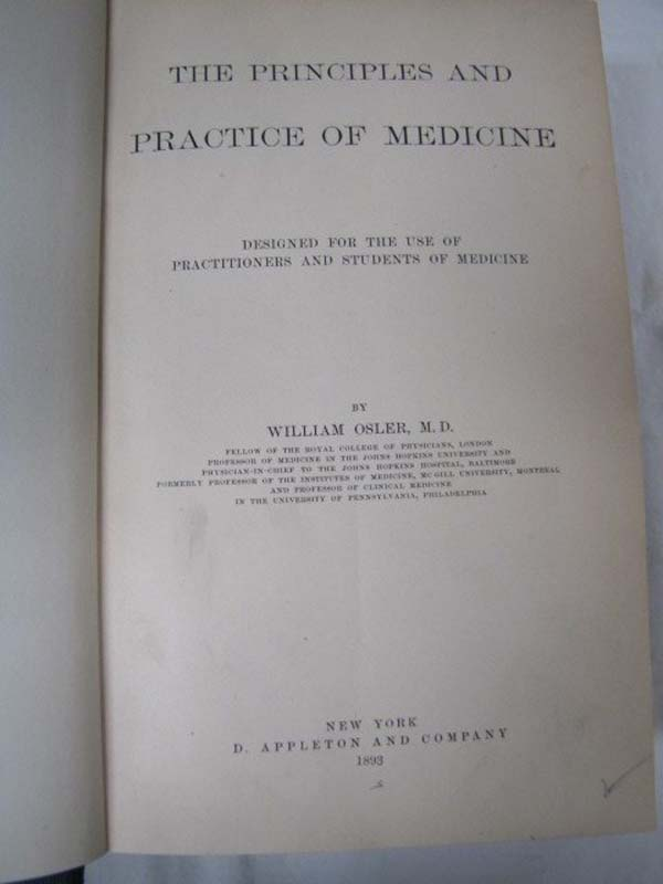 Osler, William: The Principles and Practice of Medicine