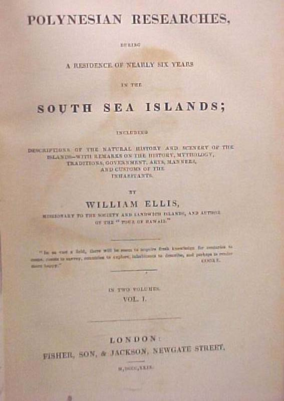 Ellis, William: Polynesian Researches, During a Residence of Nea