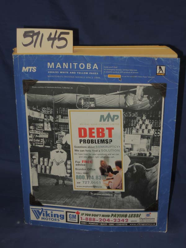 Yellow Pages: Manitoba , Canada White and Yellow pages