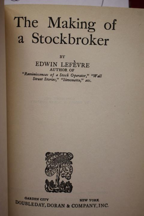 Lefevre, Edwin: Making of a Stockbroker