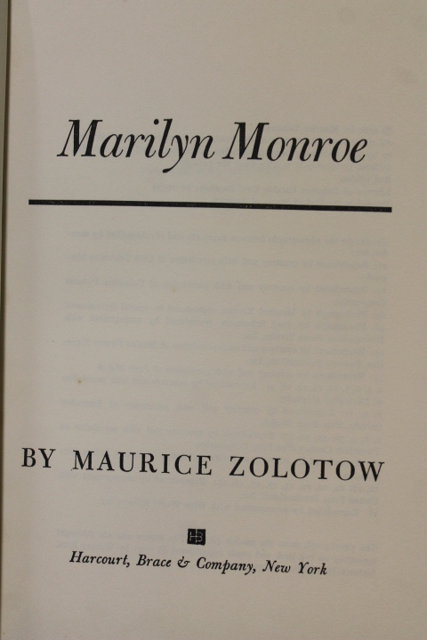 Zolotow, Maurice: Marilyn Monroe