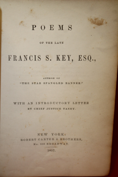 Key, Francis Scott with Introductory...: Poems of the Late Franc