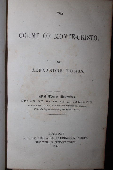 Dumas, Alexandre: The Count of Monte Cristo  One Volume Edition