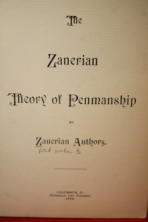 Zanerian Authors: Zanerian Theory of Penmanship