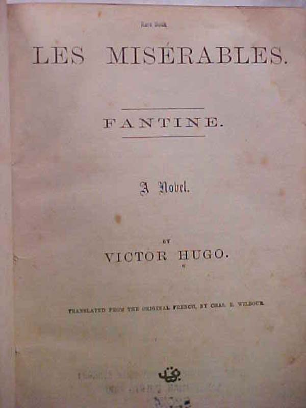 HUGO, VICTOR: LES MISERABLES