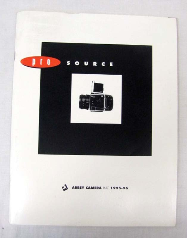 Abbey Camerca Inc: Abbey Camera Pro Source Catalog 1995-96