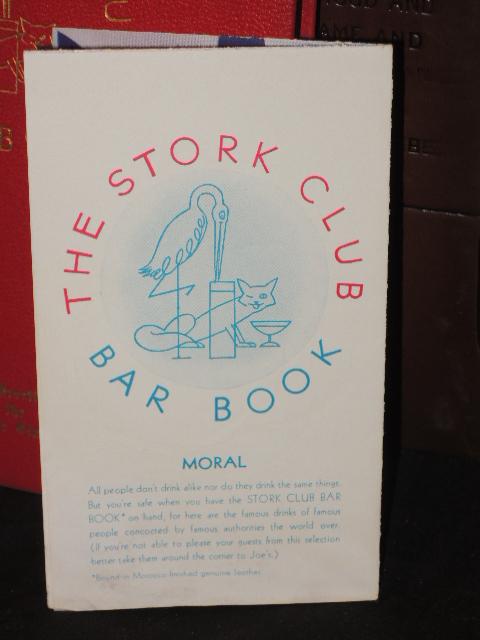 Beebe, Lucius ; Sherman Billingsley,: The Stork Club Bar Book Cl