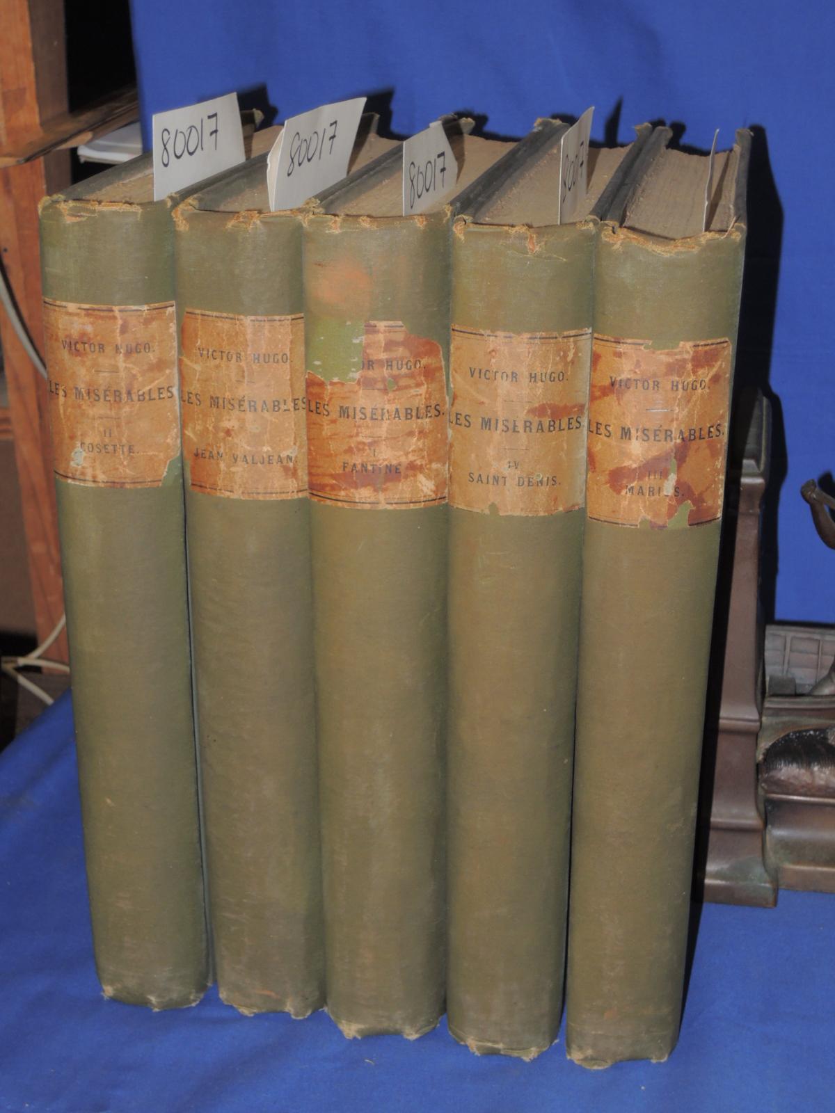 Hugo, Victor: Les Miserables 5 volume set