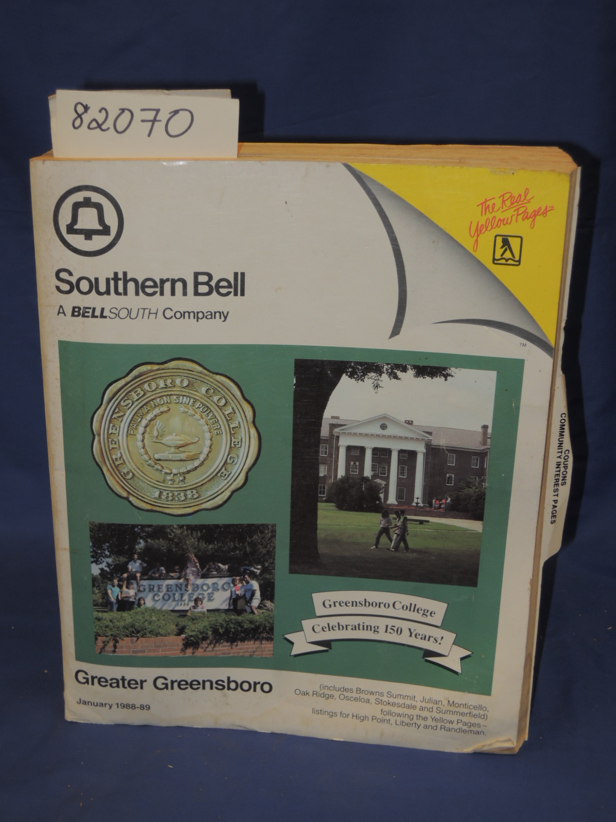 Yellow Pages: Southern Bell- Greater Greensboro- telephone book,