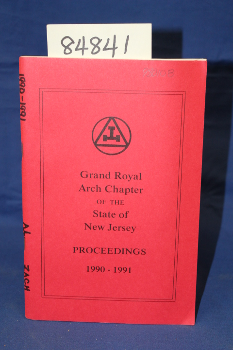 Zach, M.E. Alvin L.: Proceedings of the Grand Royal Arch Chapter
