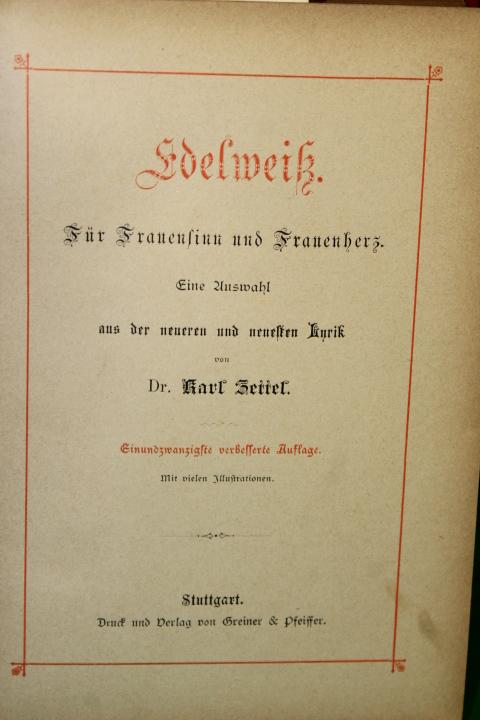 Zittel, Karl: Edelweik