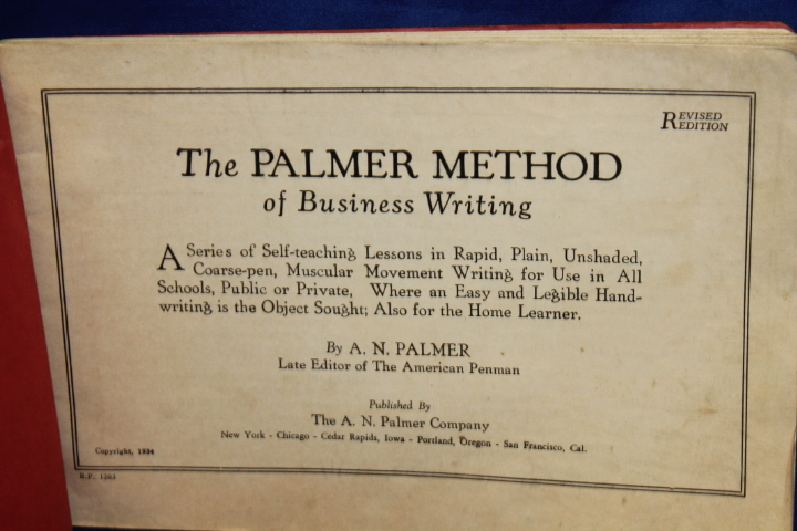 A. N. Palmer: The Palmer Method of Business Writing RED