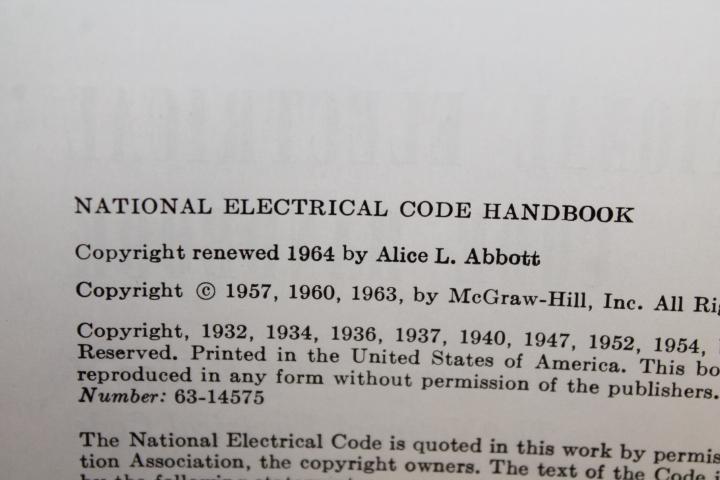 Abbott, Arthur L.; Stetka, Frank: National Electrical Code Handb