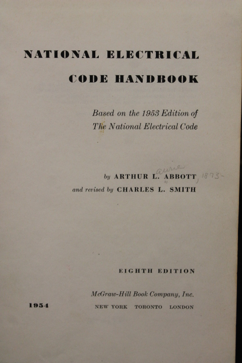 Abbott, Arthur L.: National Electrical Code Handbook: Based on t