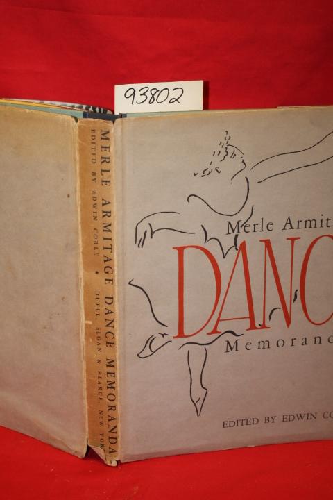 Corle, Edwin: Merle Armitage Dance Memoranda