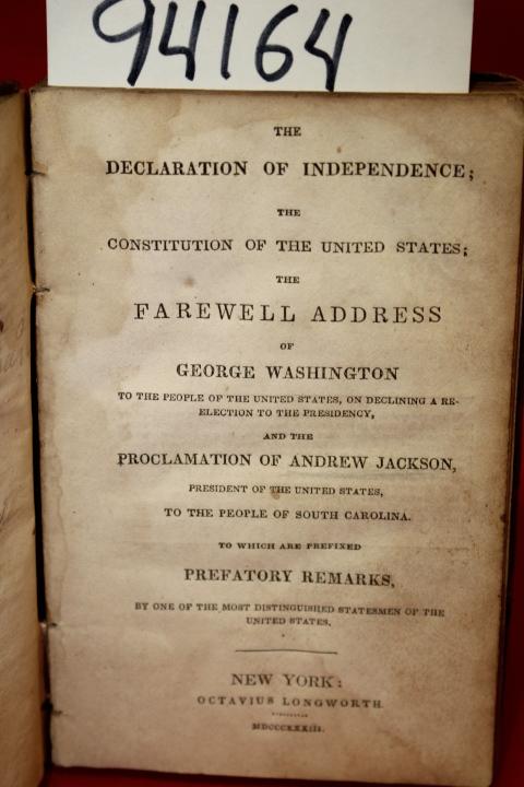 Washington, George; Jackson, Andrew: The Declaration of Independ