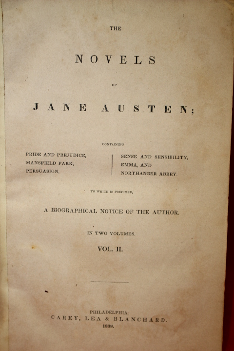 Austen, Jane: The Novels of Jane Austen Vol. II (Sense and Sensi