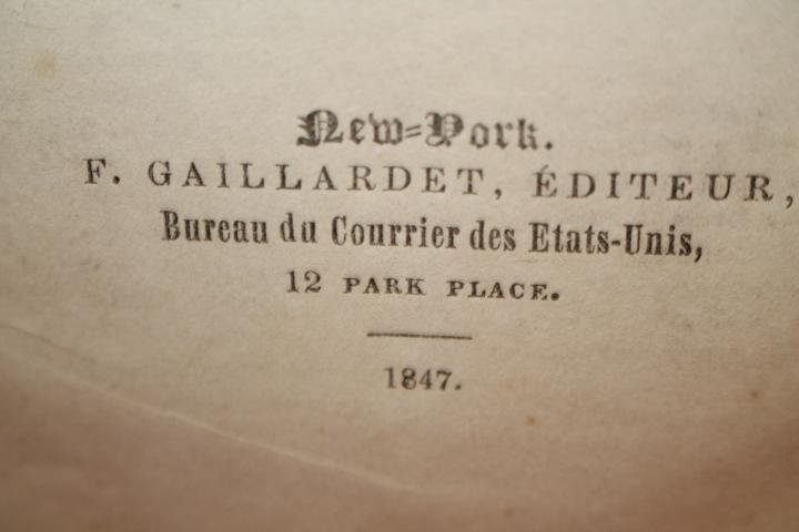 Gaillardet, F.: Semaine Litteraire du Courrier Des Estats-Unis (