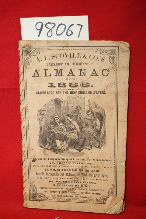 A. L. Scovill & Co.: A. L. Scovill & Co.\'s Almanac for 1866 Calc