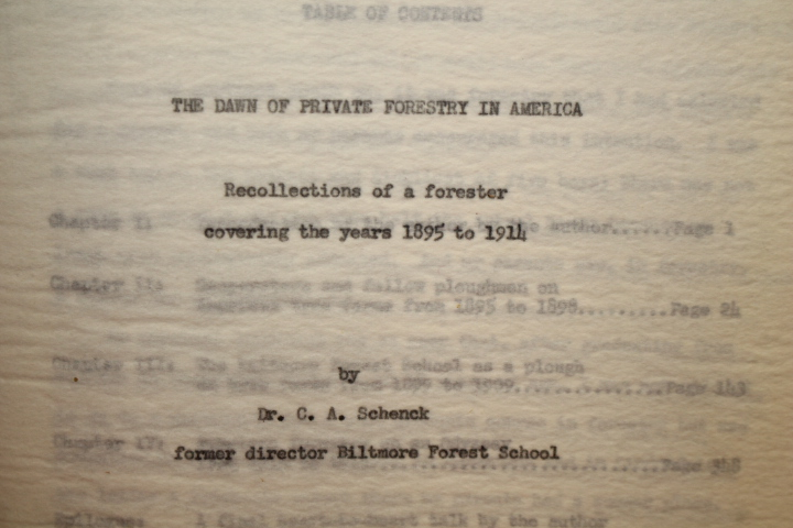Schenck, C. A.; Brown, Harlan Craig: The Dawn of Private Forestr