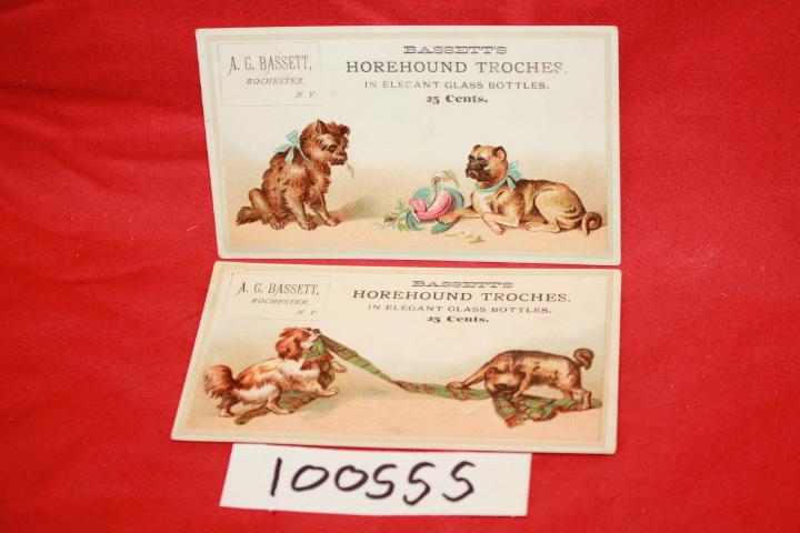 A. G. Bassett: Bassett\'s Horehound Torches in Elegant Glass Bott