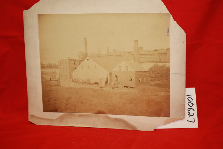 1900 CIRCA: Original Photographic Print of a Factory, Location U