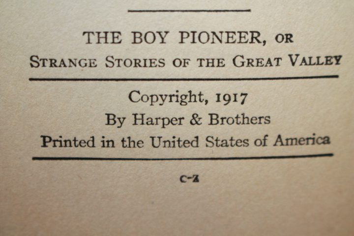 Grosvenor, Johnston: The Boy Pioneer