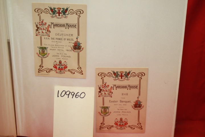 DEJEUNER H.R.H. THE PRINCE OF WALES,: LUNCH PROGRAM FROM THE MA